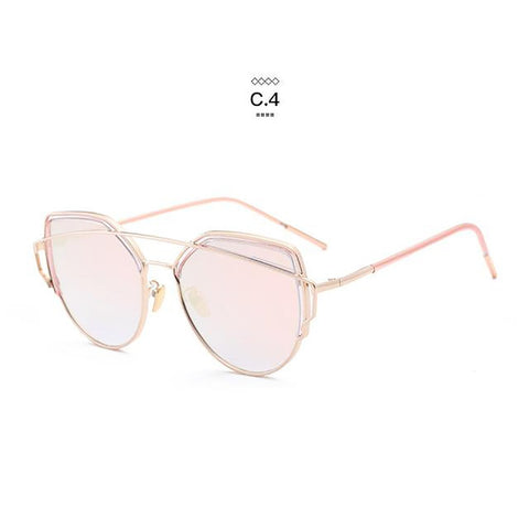 Women's Sunglasses Gradient Ocean Cat Eye Alloy Full Frame