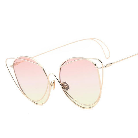 Women's Mirror Round Sunglasses Oversized Vintage Design Shades Retro