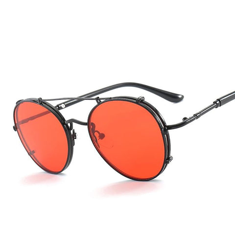 Unisex Sunglasses Round Metal Steampunk Retro Vintage Mirror