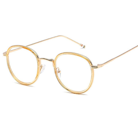 Unisex Round Eyeglasses Harry Potter Style TR Metal Prescription Degree