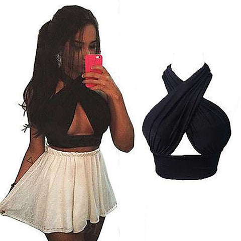 Women's Nightclub Bralette V-neck Cut Out Vest