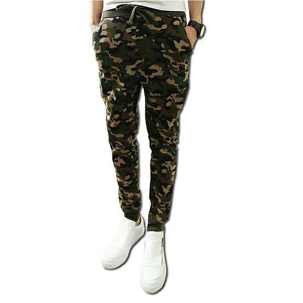 2017 Mens Jogger Autumn Pencil Harem Pants Male Camouflage Military Men's Clothing Loose Casual Trousers JoggersXXL
