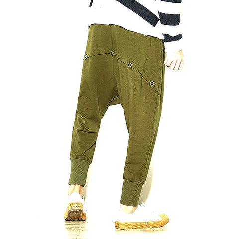 Men Fashion Casual Harem Pants Male Street Hip Hop Loose Sweatpants Jogger Big Size Trousers