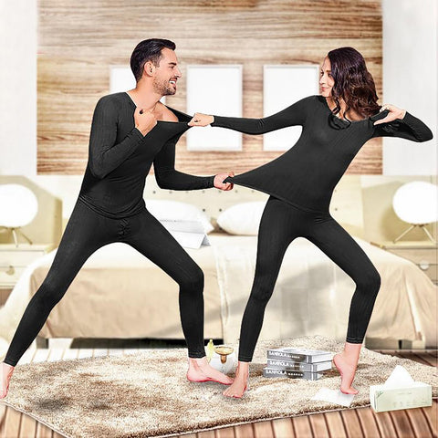 Unisex Thermal Underwear Set Stretch Spring Warm