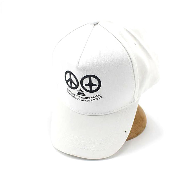 Unisex Baseball Cap Cotton Adjustable Everybody Want Peace Letter