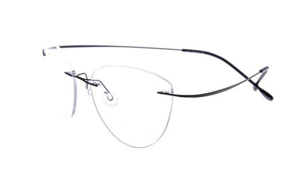 Unisex Reading Glasses Titanium Vintage Oval Rimless +100 +150 +200 +250 +300 +350 +400 +450 +500 +600