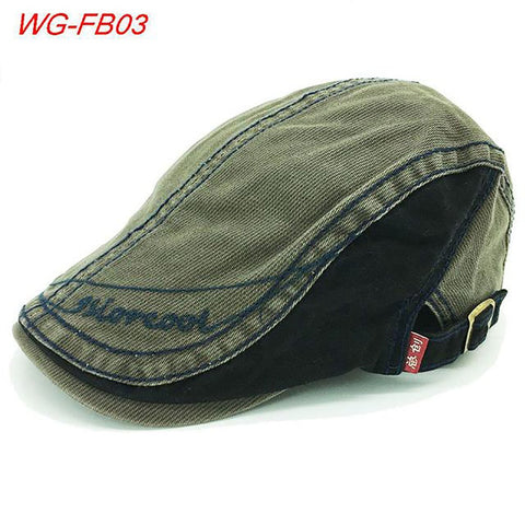 Fashion Autumn Winter Men Newsboy Cotton Breathable Visor Caps Match Clothes Visors Warm Peaked Hat Flat Cap Hats For