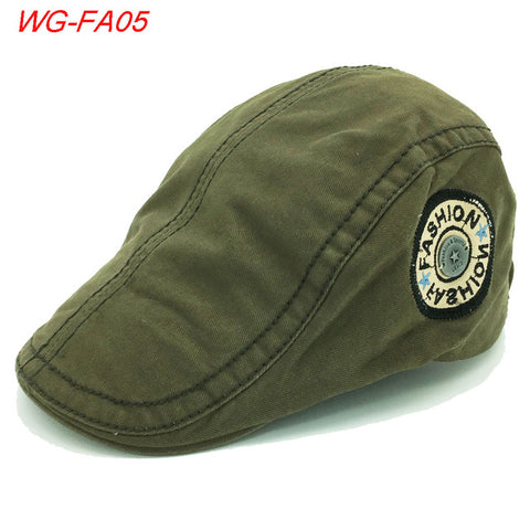 2017 Men Male Breathable Newsboy Cotton Visor Caps Peaked Hat Flat Cap Hats For Retro Beret Visors Warm Autumn Winter