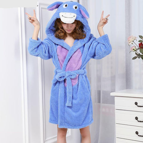 Unisex Cartoon Donkey Nightgown and Bathrobe