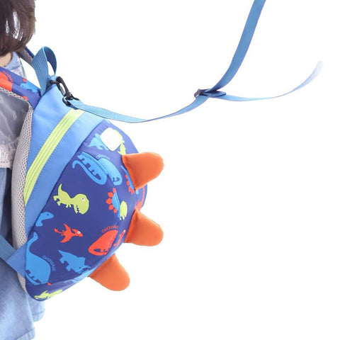 Kid's Harness Backpack Anti-lost Leash Safety Walker Cartoon Dinosaur Design
