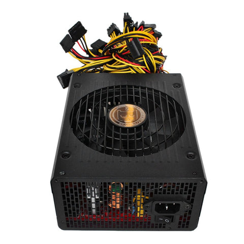 Power Supply for Mining Machine with Low Noise Cooling Fan for PC Windows High Efficiency Rated 1800W Safe Stable