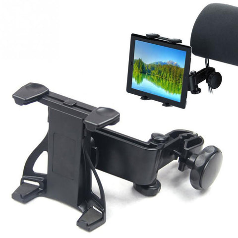 Adjustable Car Seat Tablet Mount Removable Headrest Holder for Mobile Devices
