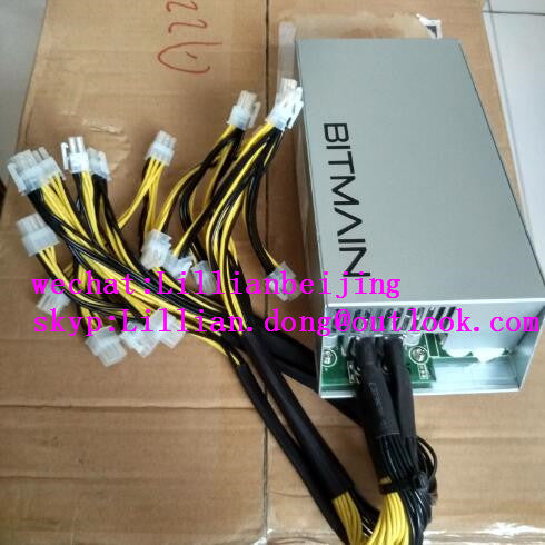New BITMAIN Antminer PSU APW3++ 1600w Power Supply for ETH BTC Miner S9 S7 L3+ D3 Free Shipping