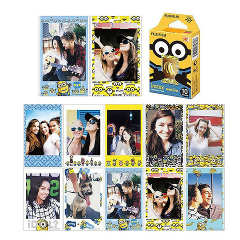 Minions Mini Instant Film 10 Sheets for Instant Cameras