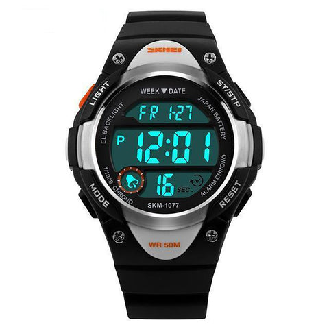 Unisex Children's Digital Watch Sports Alarm Stopwatch Waterproof