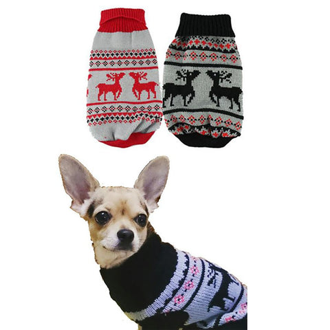 Pet's Christmas Sweater Small Warm Winter