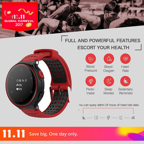 Unisex Adult's Smartwatch Bluetooth Waterproof Blood Oxygen Pressure Sleep Heart Monitor
