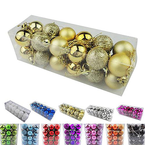 Christmas Hanging Ball Tree Decoration Bauble Ornament Home 30mm 24pcs/lot
