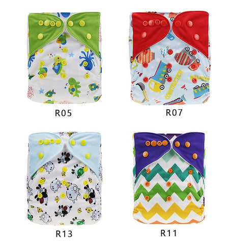 Baby Nappy Washable Cloth Diaper Cover Changing Adjustable Size Couche Lavable Fralda De Pano Merries 0-3 Years