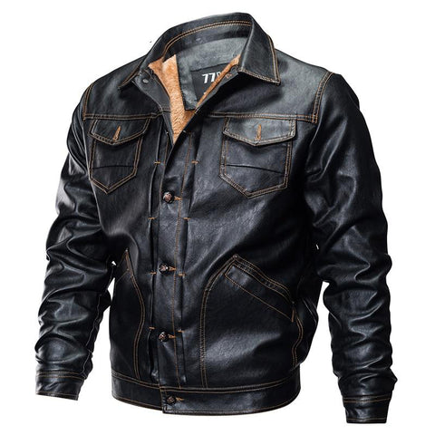 Jacket men winter pu leather military pilot casual tactical fleece bomber windbreaker clothes motorcycle