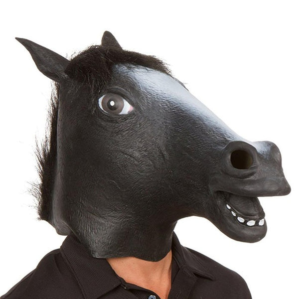 New Years Horse Head Mask Animal Costume N Toys Party Halloween 2018 Year Decoration
