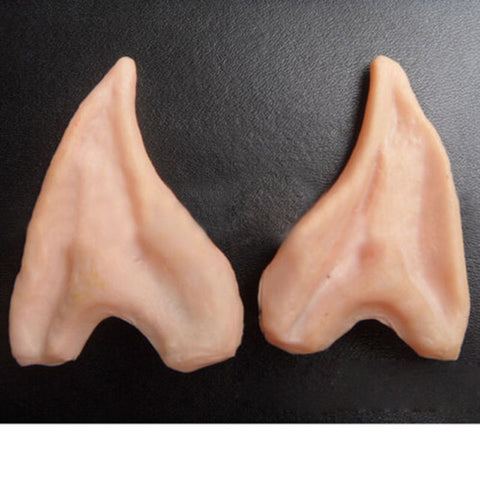 1 Pair PVC Fairy Pixie Fake Elf Ears Halloween Mask Party Scary Decoration Soft Pointed Prosthetic
