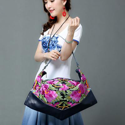 XIYUAN BRAND Chinese Style Women Handbag Embroidery Ethnic Summer Fashion Handmade Flowers Ladies Spring Tote Shoulder Hand Bags