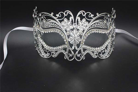 Silver Gold Scary Metal Filigree Laser Cut Skull Venetian Masquerade Mask Wedding Halloween Ball Costume Party Masks
