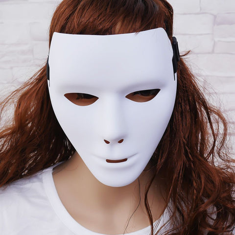 White Face Mask Halloween Party Masks Decoracion Adult Party Add Mystique Props