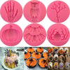 Halloween Molds Fondant Cream Chocolate Silicone Hand Skeleton Spider Bats Pumpkin Owls Clay For Kitchen Baking