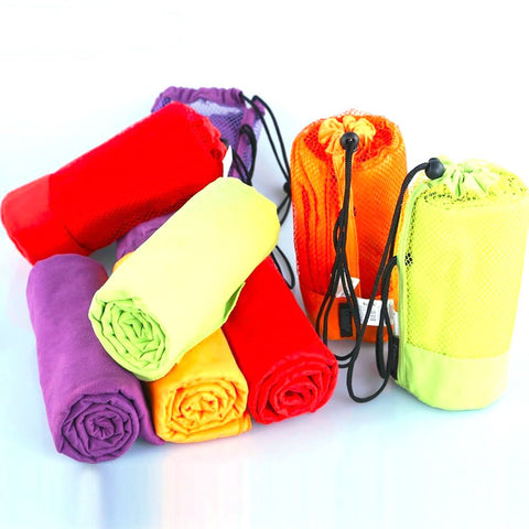 Sports Towel With Bag 70x130cm Larger Size Microfiber Swimming Travel Gym