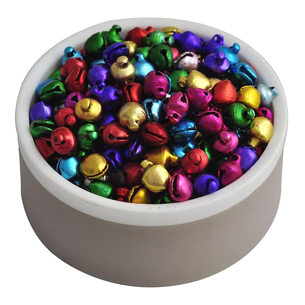 Small Jingle Bells Loose Beads Christmas Decoration Gift Mix Colors 6MM 200 Pcs/lot