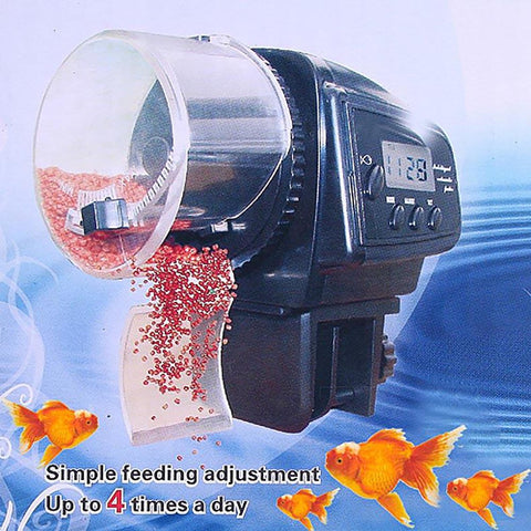 Hot Sale Digital LCD Automatic Aquarium Tank Auto Fish Feeder Timer Food FeedingE2shopping