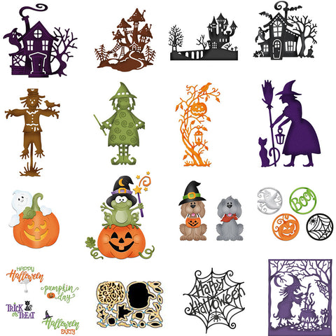 Halloween Hollow Metal Cutting Dies Scrapbooking Cut New 2018 For DIY Greeting Card Decorations