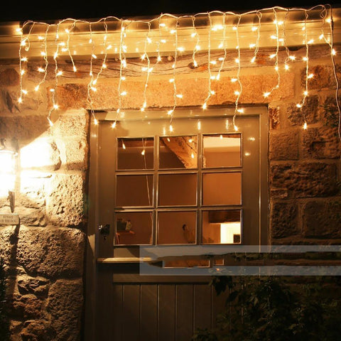 Connectable 5M Led Curtain Icicle String Lightsfairy Christmas Lamps Icicle Lights Xmas Wedding Party Decoration