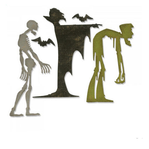 Halloween Metal Steel Zombie & Wizard Cutting Dies Stencil For DIY Scrapbooking Album Paper Card Photo Decoration Craft