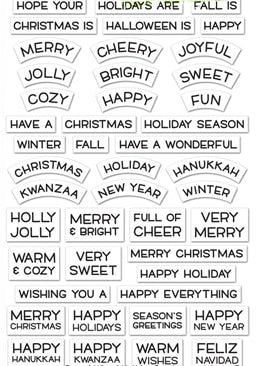 Reveal Wheel Holiday Christmas Halloween NAVIDAD Sentiment Clear Silicone Stamp Scrapbook Paper Craft Stamp Scrapbooking