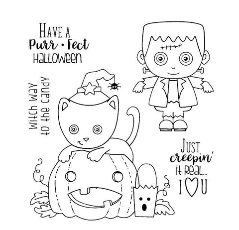 Pumpkin Light Halloween Clear Stamp Or Stamp for DIY Scrapbooking/Card Making/Kids Fun Decoration Supplies