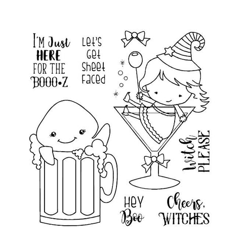 Happy Halloween Clear Stamp Or Stamp for DIY Scrapbooking/Card Making/Kids Fun Decoration Supplies