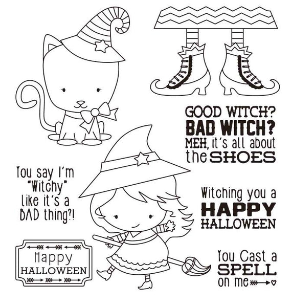Happy Halloween Transparent Clear Silicone Stamp/Seal for DIY Scrapbooking/photo Album Decorative Clear Stamp M1006