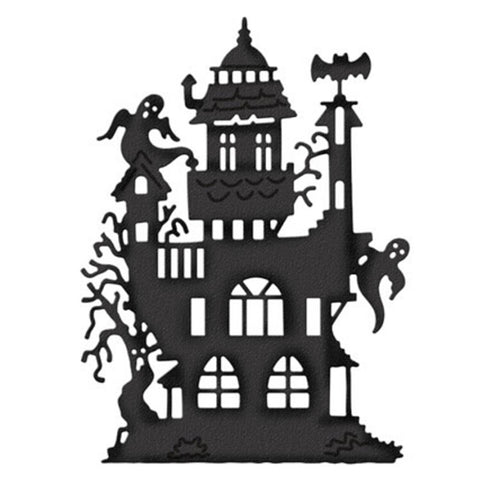Halloween Decoration Metal Cutting Dies Cut Die Mold Ancient Castle Scrapbook Paper Craft Knife Mould Blade Punch Stencils