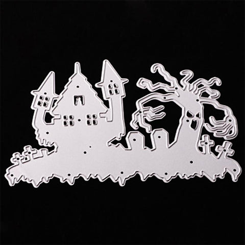 Cutting Dies My House Happy Halloween Metal Stamp Stencils DIY Scrapbooking Photo Cards Crafts 17SEP29
