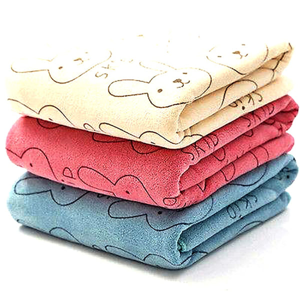 Cute Microfiber Absorbent Drying Bath Beach Towel Washcloth Swimwear Baby