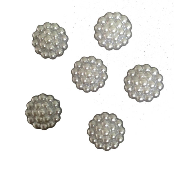Plastic Pearl Flower Round Shape Flatback for Scrapbook Craft DIY Wedding Decoration Clothing Accesories 14mm 40pcs/lot