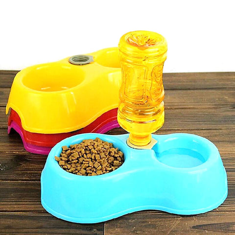 Pet's Feeder Bowl Creative Sual Port Automatic Water Dispenser