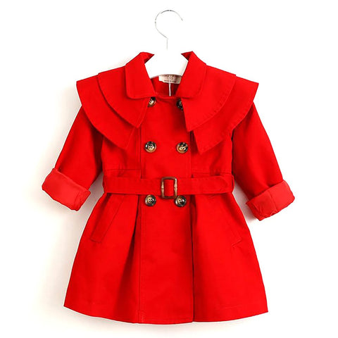 Bear Leader Children Clothing Outerwear&Coats Girls Trench Coats 2016 Fashion Girl Jackets Long Sleeve Collect Waist Belt
