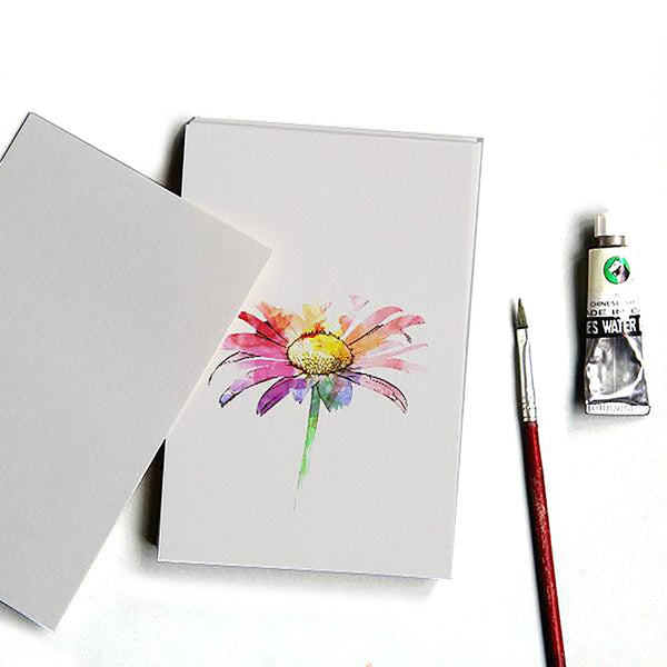 Watercolor Paper Blank Postcard DIY Hand-painted Homemade Cartoon