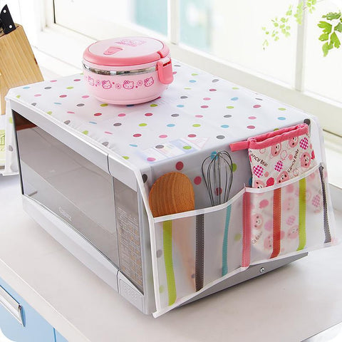 New Arrival Waterproof Microwave Oven Covers With Two Side Pocket PEVA Material