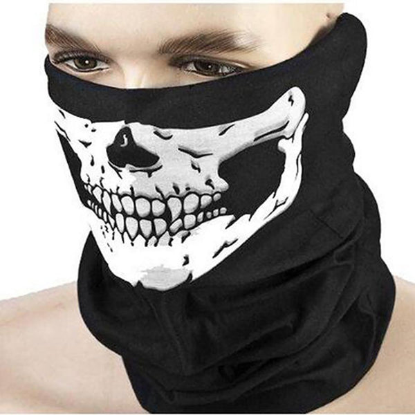 Unisex Adult's Half Face Mask Skull Design Multifunction for Ski Sport Motorcycle Bike