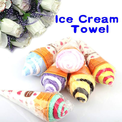 Portable Towel Cup Of Ice Shaped Random Double Color Soft